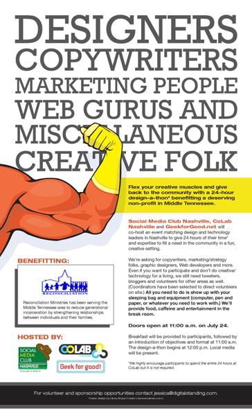 Designathon Poster Social Media Club Nashville