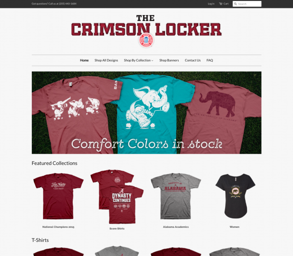 The Crimson Locker Website Design